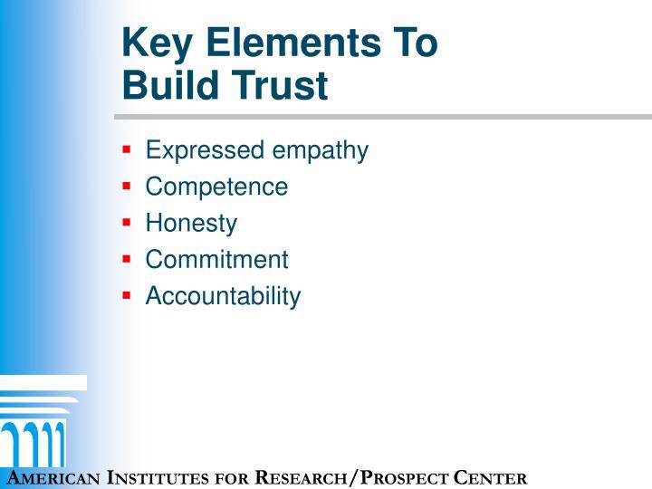 Key Elements To