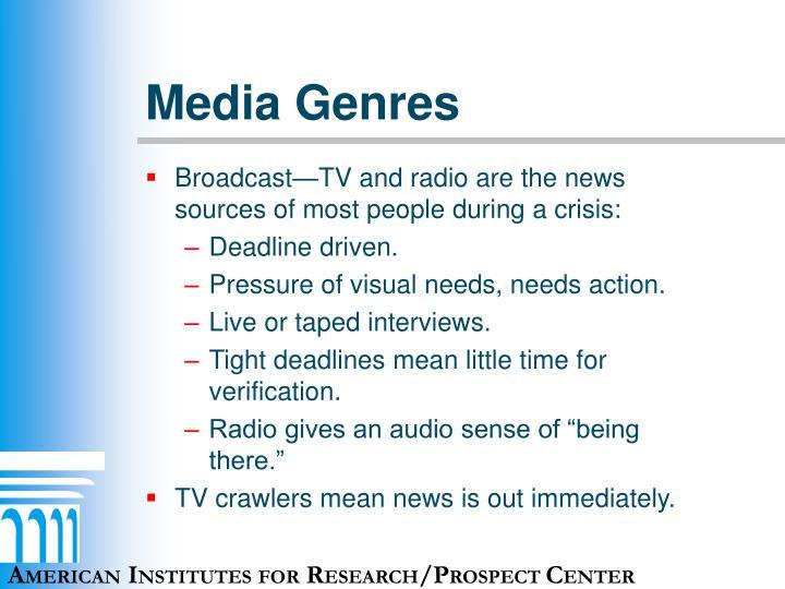 Media Genres
