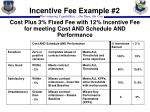 incentive fee example 2