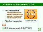 european food safety authority efsa