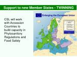 support to new member states twinning
