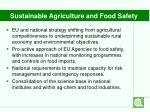 sustainable agriculture and food safety