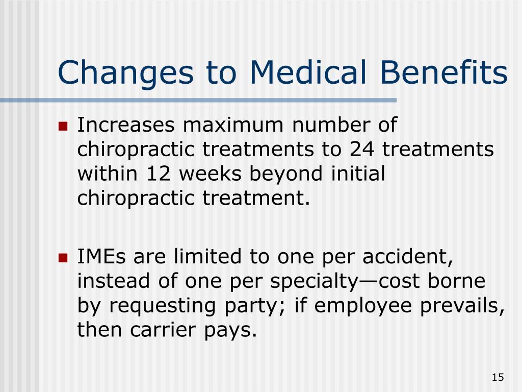 Changes to Medical Benefits
