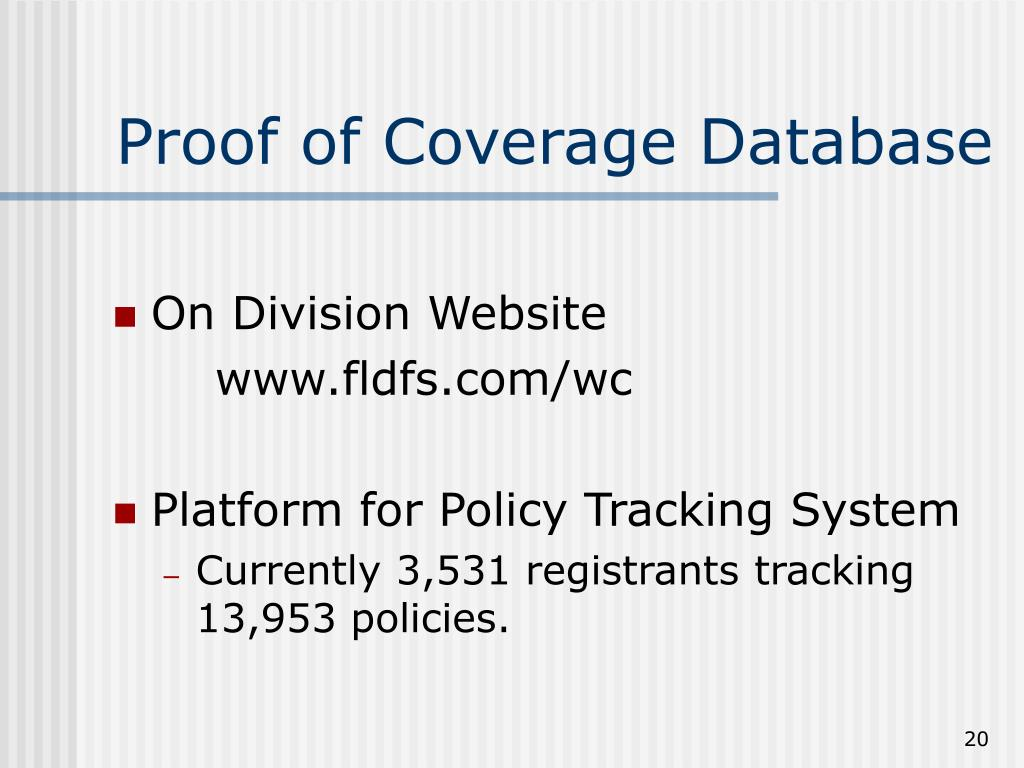 Proof of Coverage Database