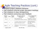 agile teaching practices cont