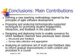 conclusions main contributions