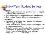 end of term student surveys