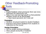 other feedback promoting tools