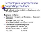 technological approaches to supporting feedback