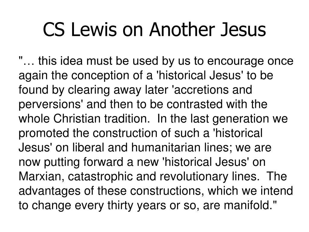 CS Lewis on Another Jesus