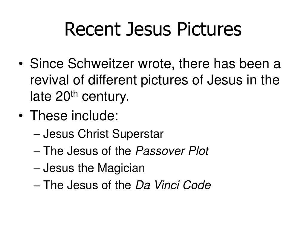 Recent Jesus Pictures