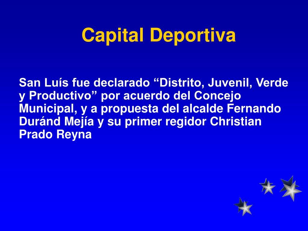 Capital Deportiva