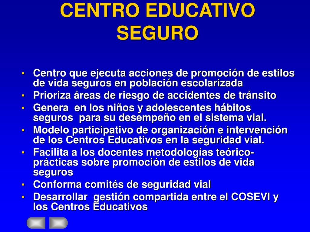 CENTRO EDUCATIVO SEGURO