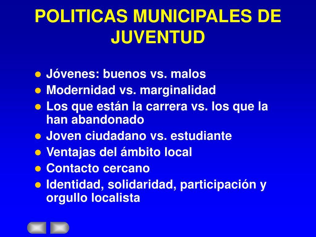 POLITICAS MUNICIPALES DE JUVENTUD