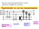 equivalently we can use measurements