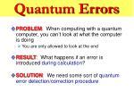 quantum errors