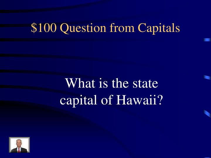$100 Question from Capitals