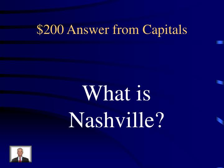 $200 Answer from Capitals