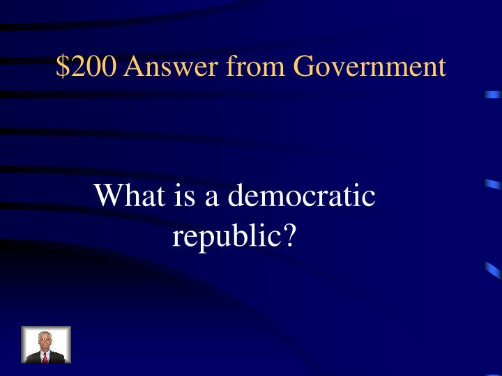 $200 Answer from Government