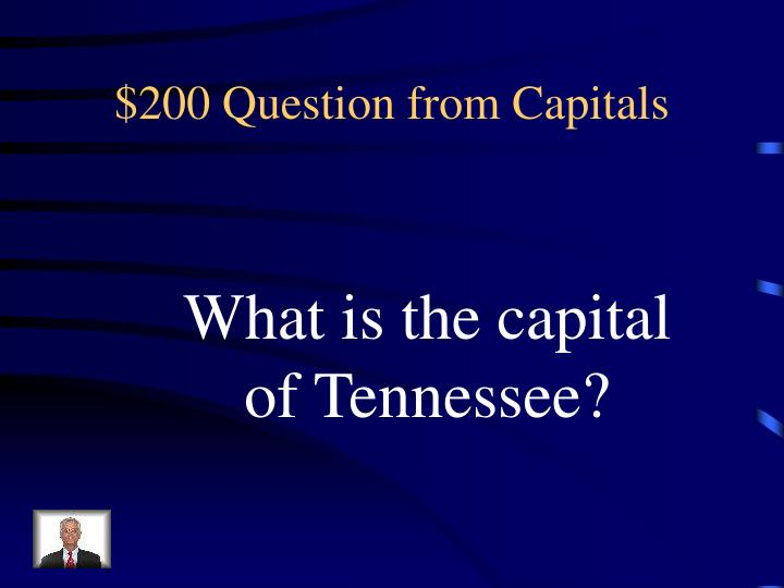 $200 Question from Capitals