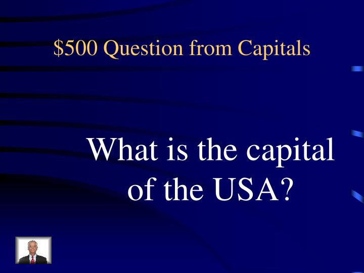 $500 Question from Capitals