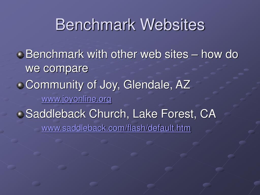 Benchmark Websites
