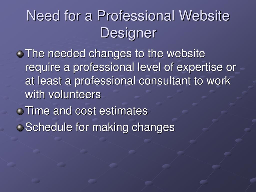 Need for a Professional Website Designer