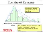 cost growth database