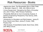 risk resources books