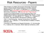 risk resources papers53