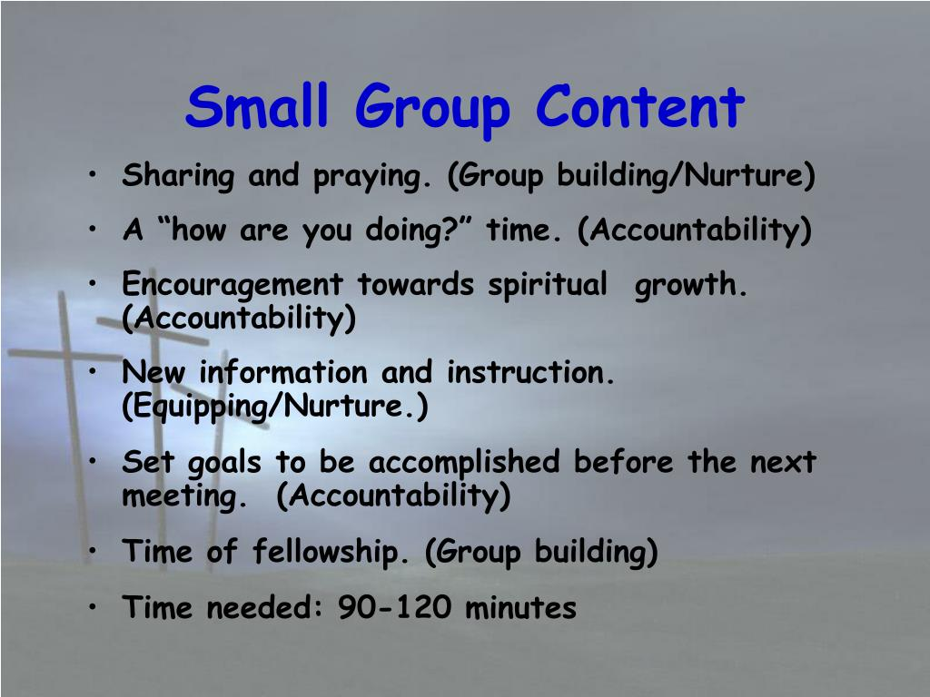 Small Group Content