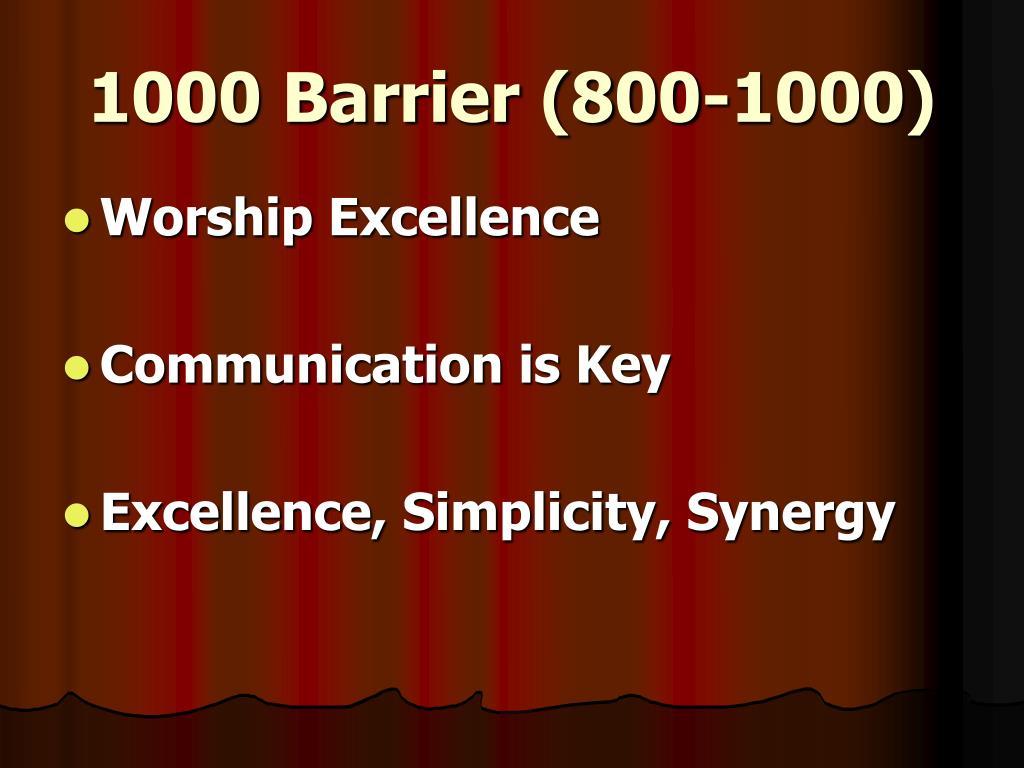 1000 Barrier (800-1000)