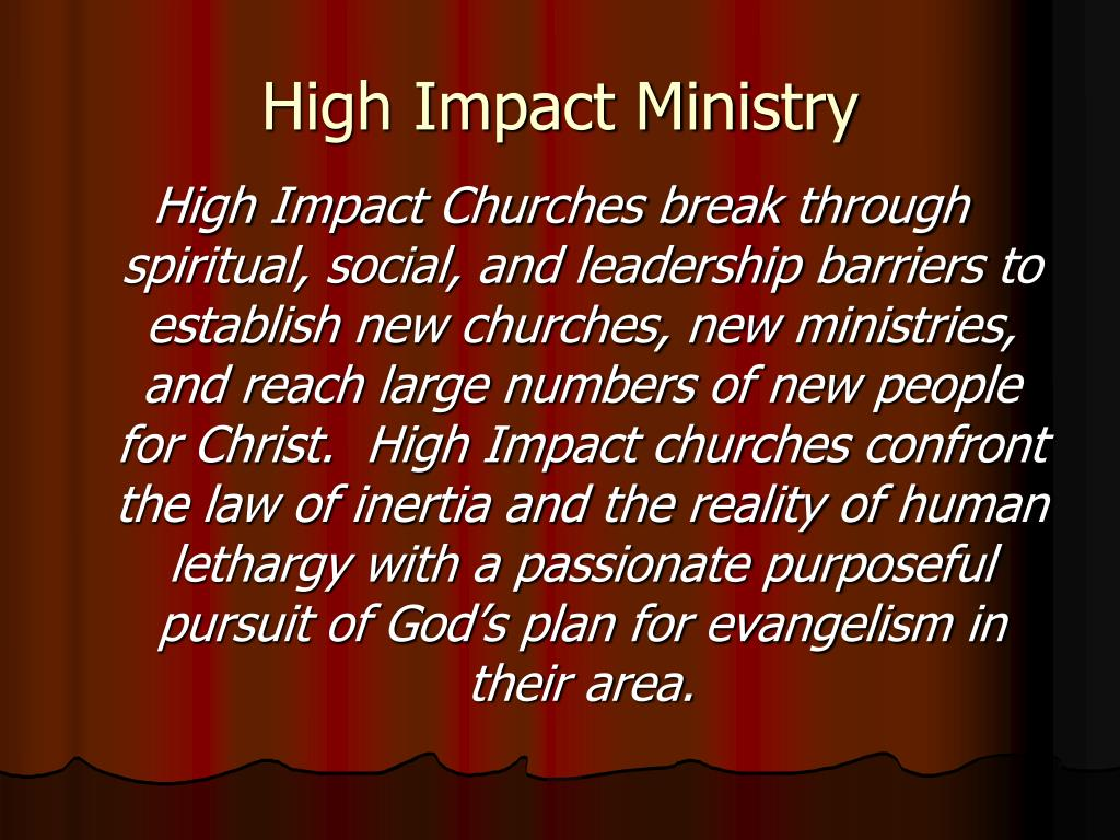 High Impact Ministry