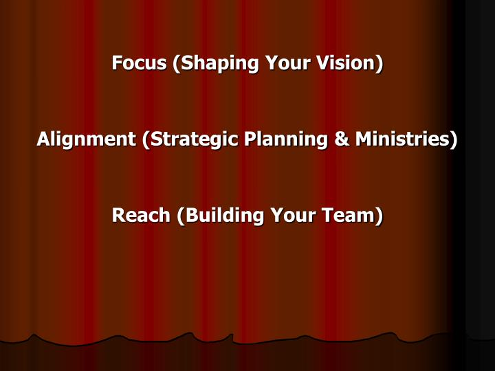 Focus (Shaping Your Vision)