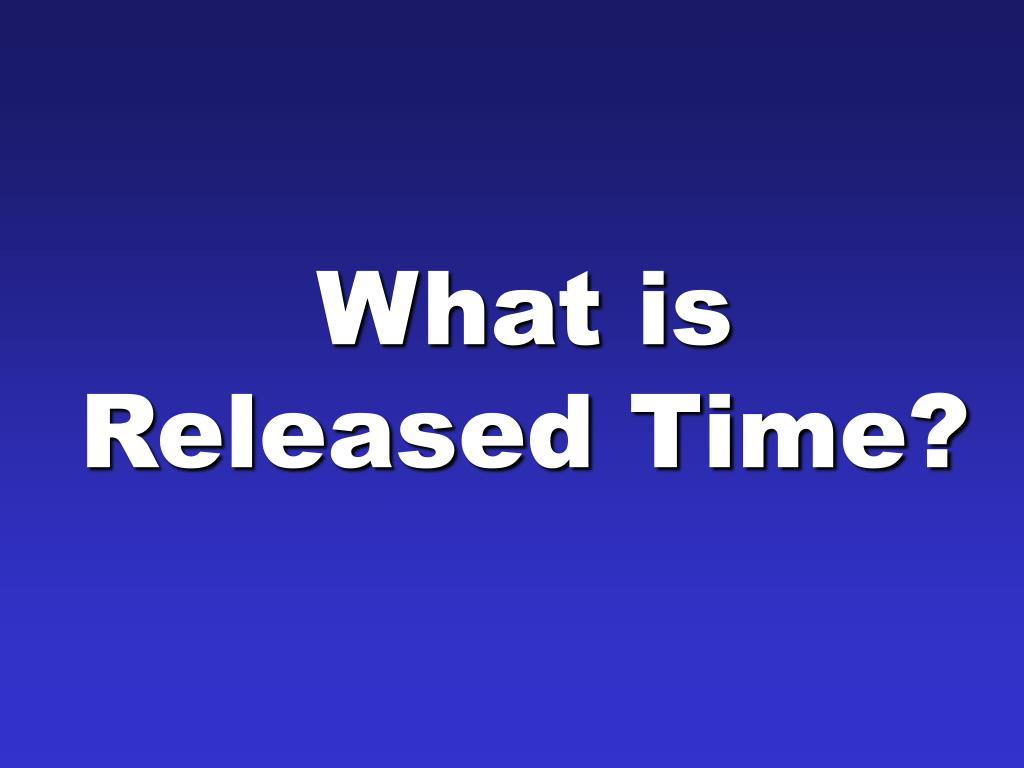 What is Released Time?