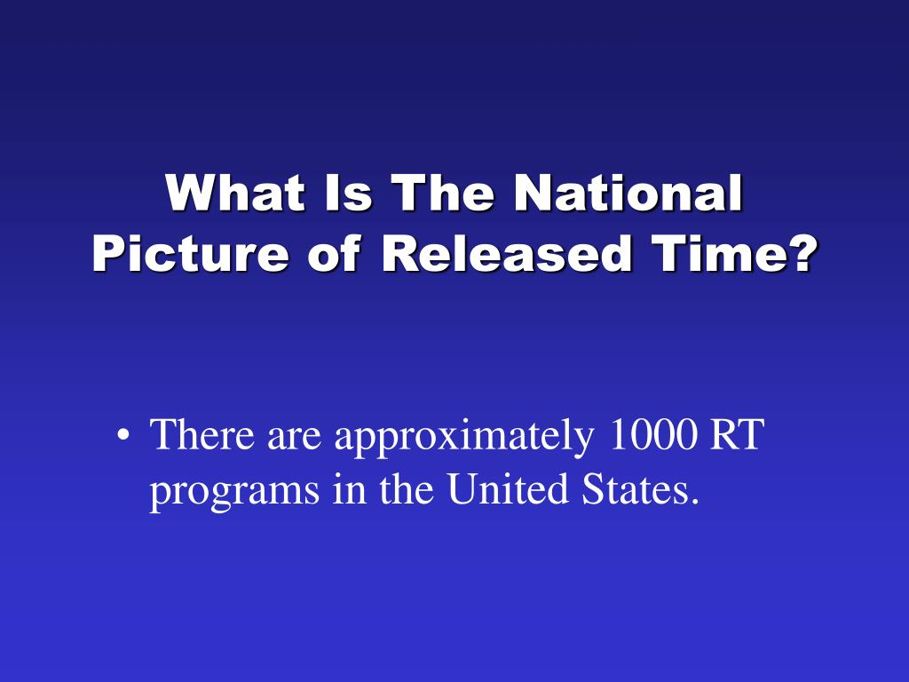 What Is The National Picture of Released Time?