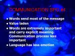 communication spo 4