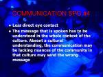 communication spo 416
