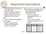 sequential associations