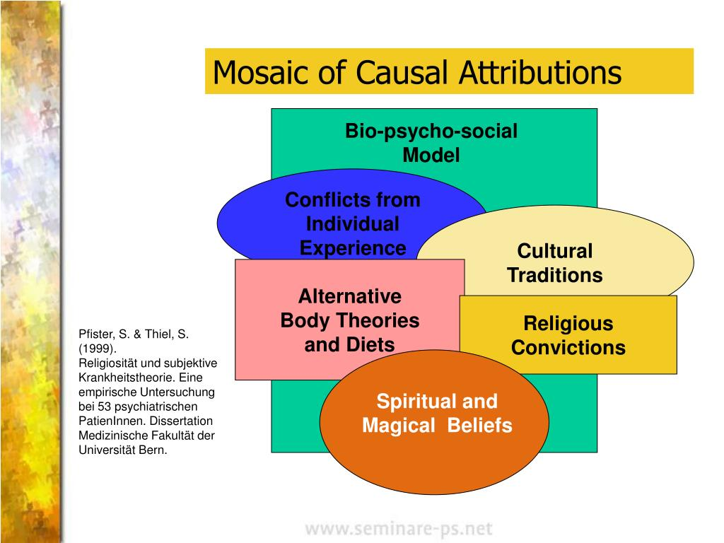 Mosaic of Causal Attributions