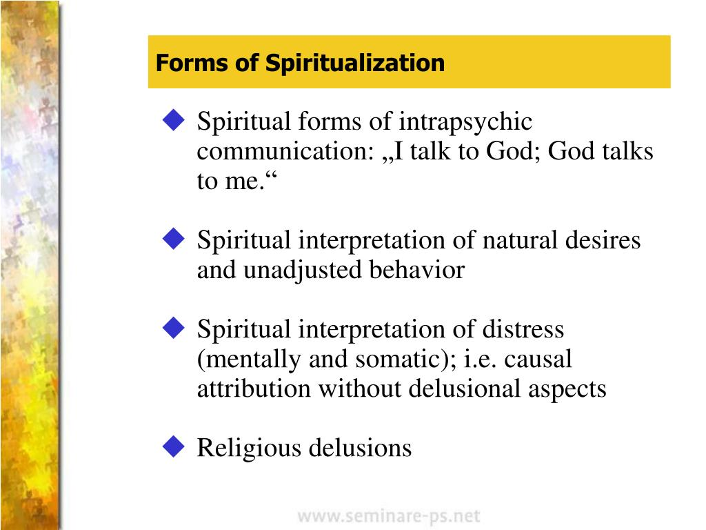 Forms of Spiritualization