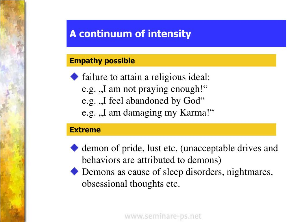 A continuum of intensity