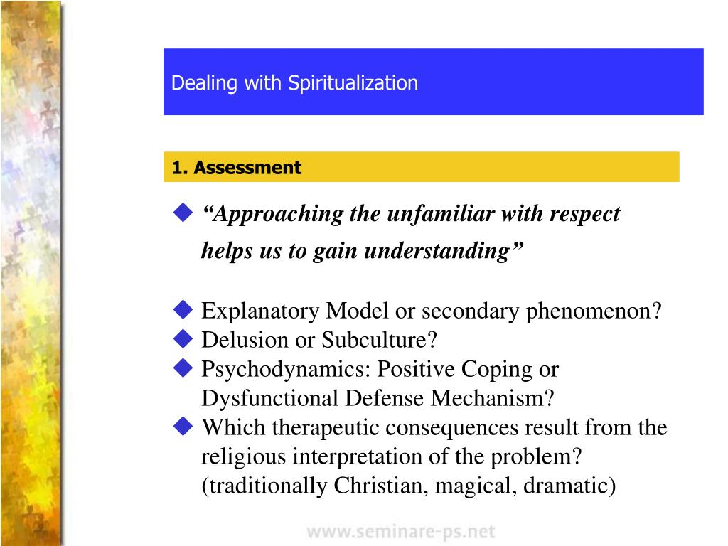 Dealing with Spiritualization