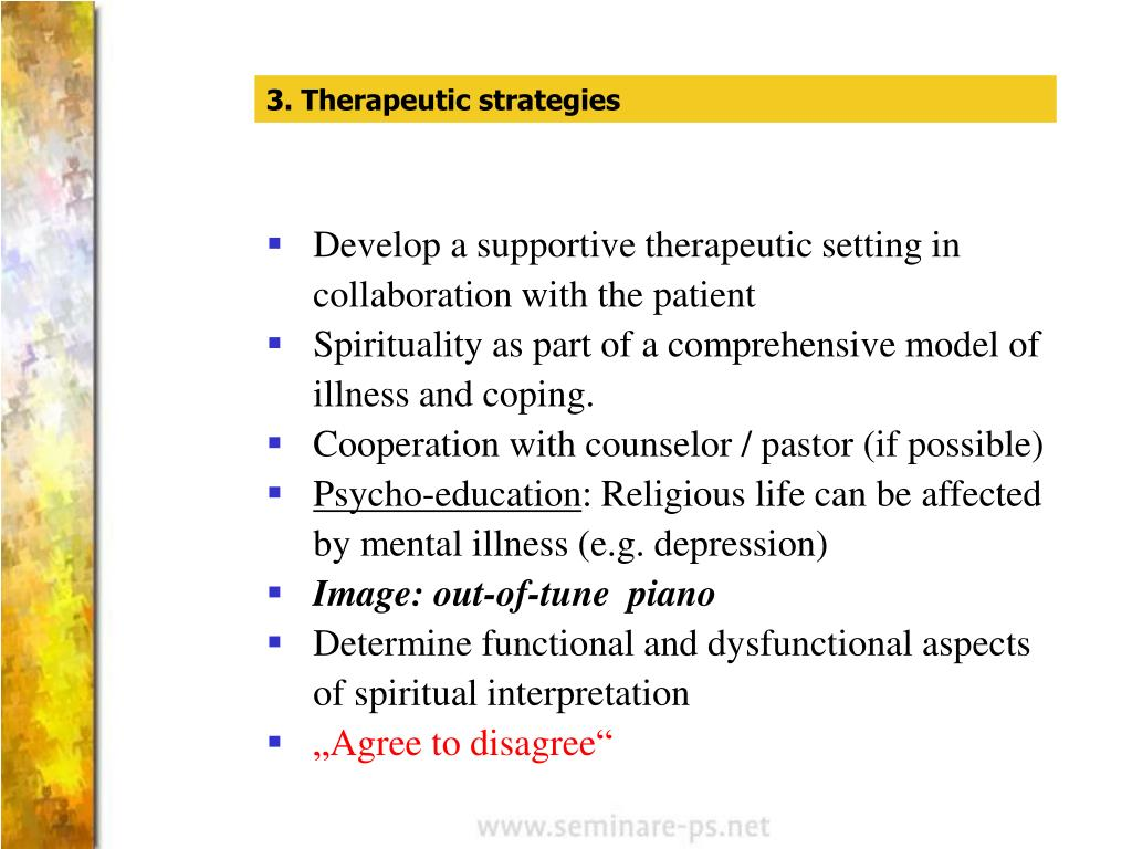 3. Therapeutic strategies