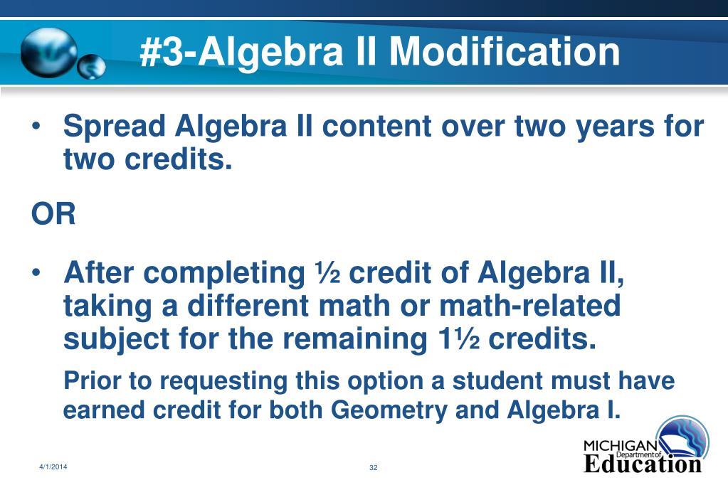 #3-Algebra II Modification