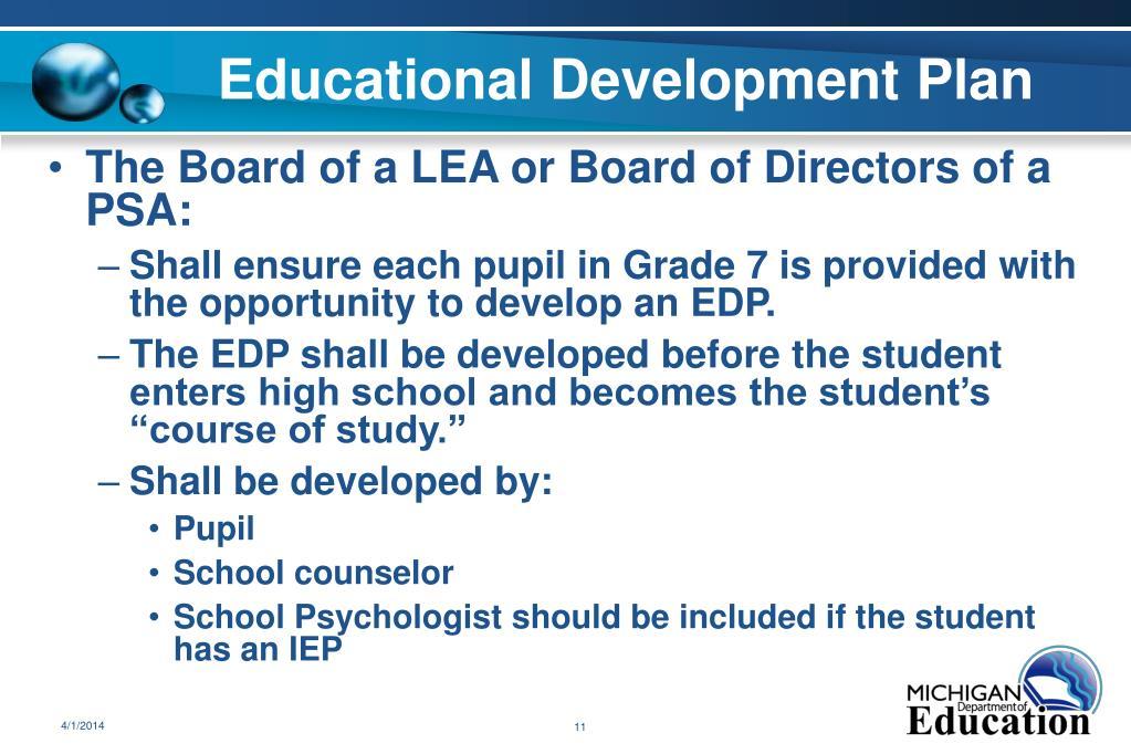 Educational Development Plan