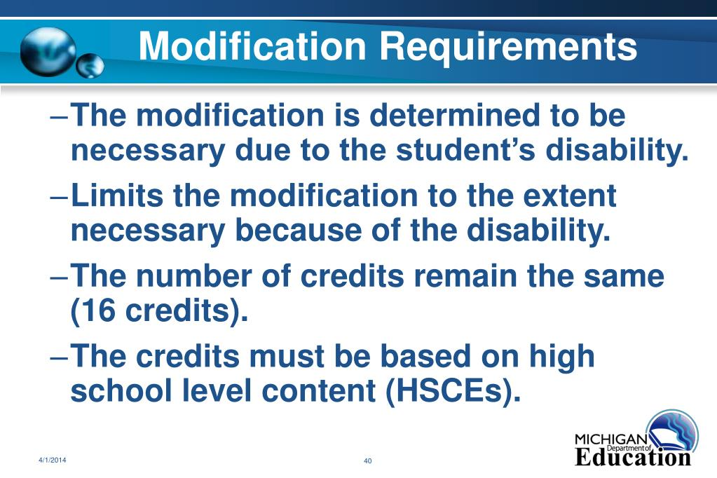 Modification Requirements