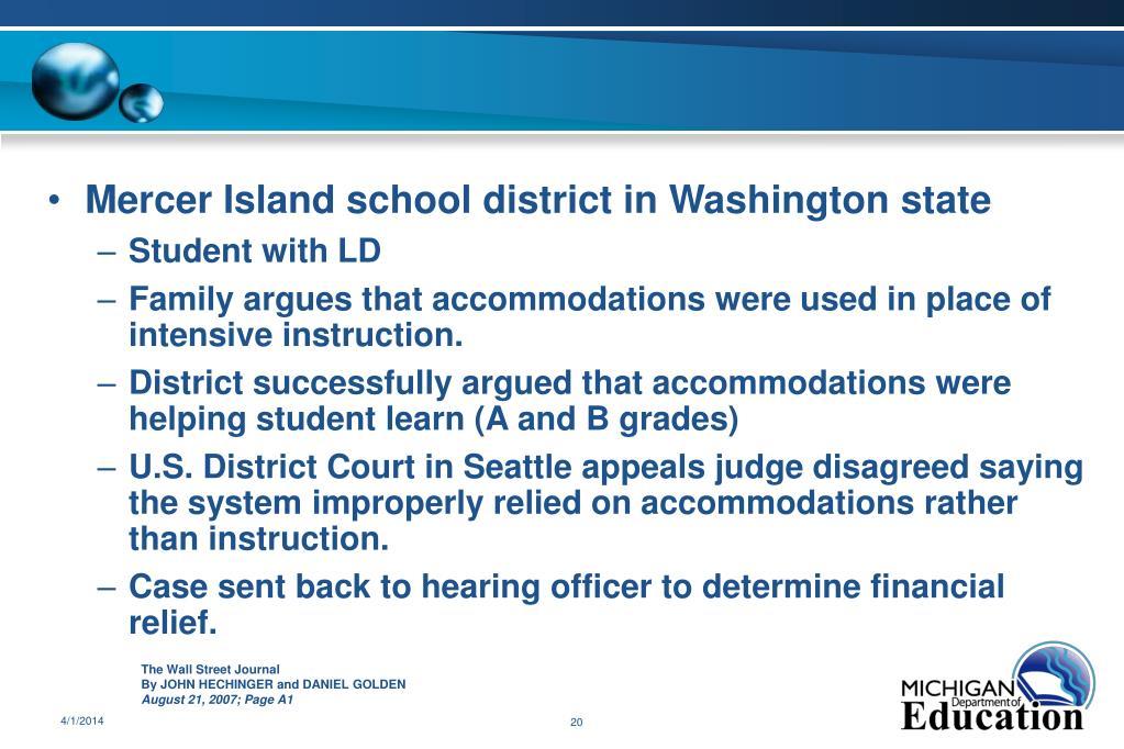 Mercer Island school district in Washington state