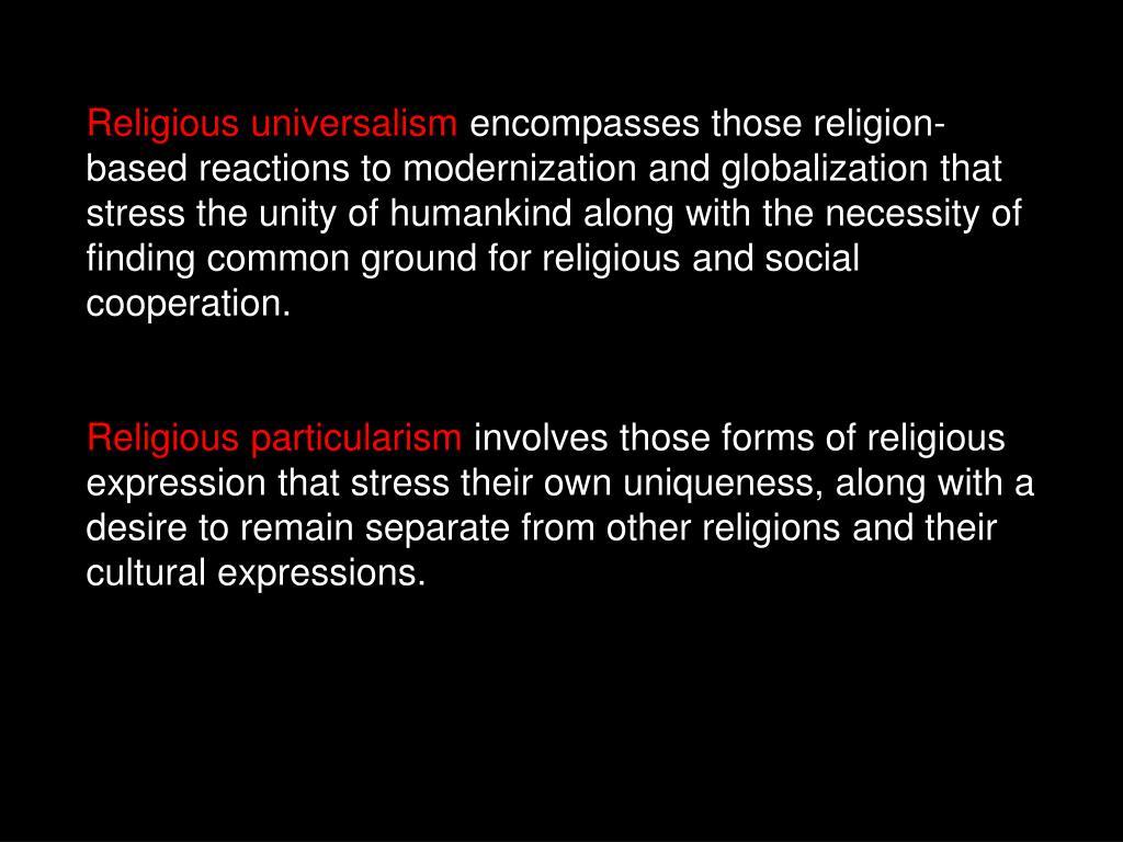 Religious universalism
