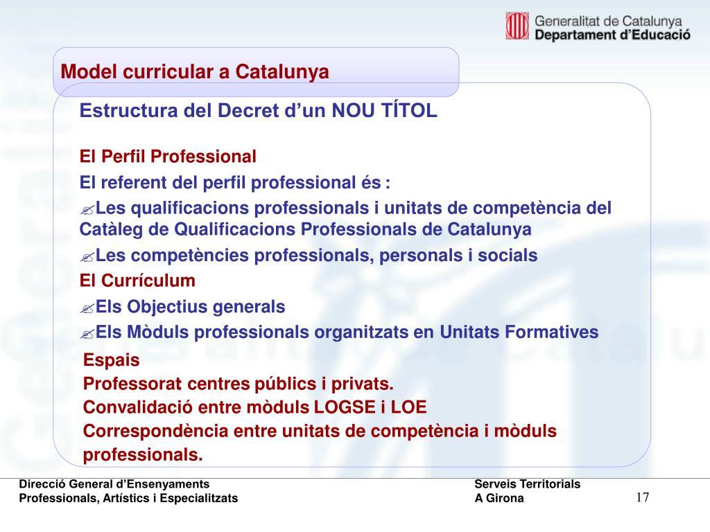 Estructura del Decret d'un NOU TÍTOL